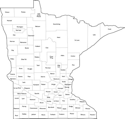 mn county map map of minnesota counties my