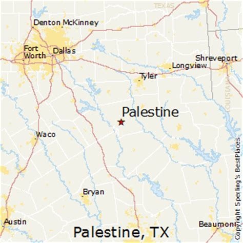 palestine texas map best places to live in palestine texas