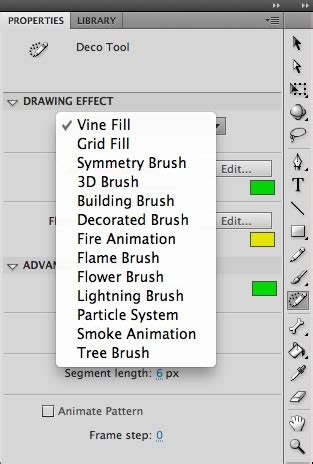 5 Drawing Tools In Adobe Flash by Creating Graphic Effects Using The New Deco Scripts In