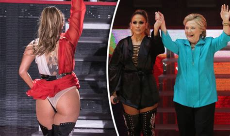 current black celebrity news jennifer lopez puts on perky display for hillary clinton