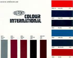 some classic alfa romeo colours sorted by code
