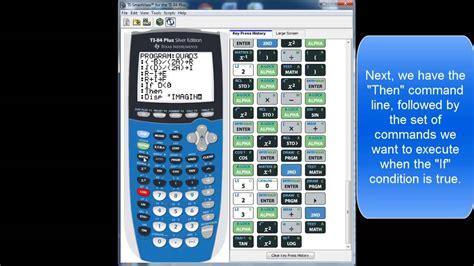 calculator quadratic formula program ti 84 quadratic equation program youtube