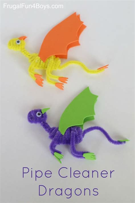 pipe cleaner crafts for pipe cleaner dragons craft for boys for and