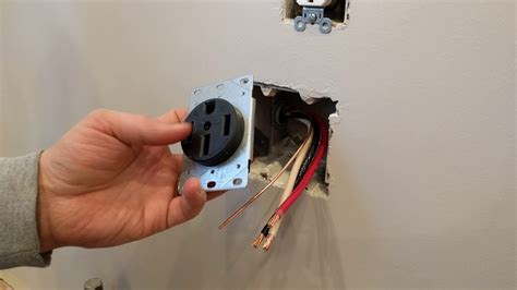install  range receptacle  outlet flush mount