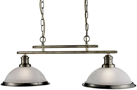 Retro Kitchen Lighting Bistro Retro Antique Brass 2 L Kitchen Pendant Light Bar 2682 2ab