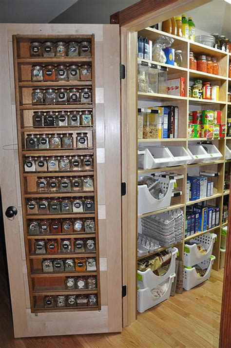 Door Pantry Storage spice rack storage solutions sand and sisal