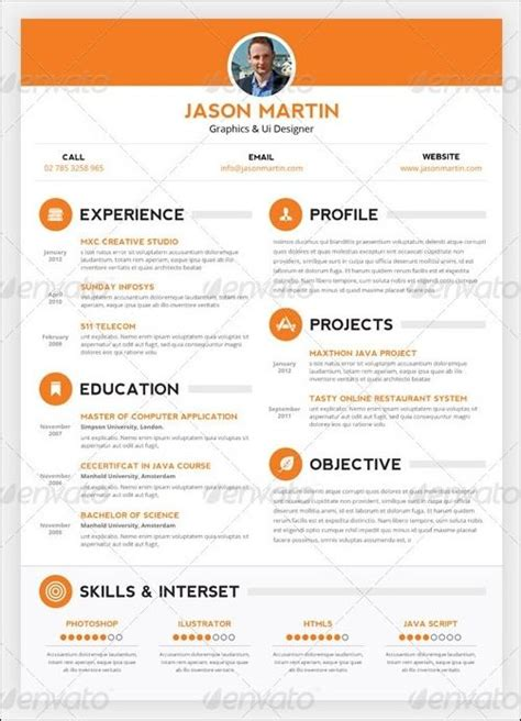 Creative Resume Templates Resume Curriculum Vitae Creative Resumes Creative Sle Resume Templates And