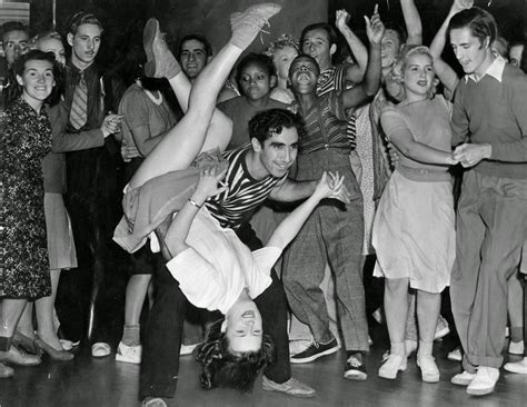 young couple swinging vintage everyday couple swing dancing ca 1940s 20th