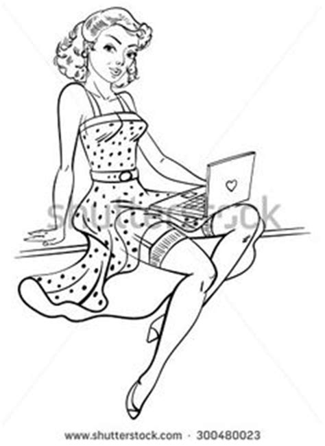 pin up coloring pages 1000 images about pin ups on pin up