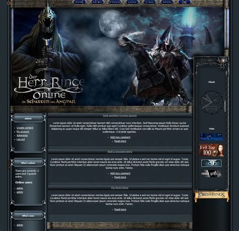 drupal themes for artists drupal template lotro by toats on deviantart