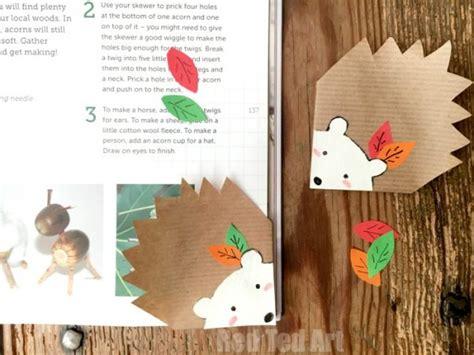 hedgehog bookmarks hedgehog bookmark corner diy red ted art s blog