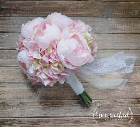 pink peonies wedding blush pink peony and hydrangea wedding bouquet peony