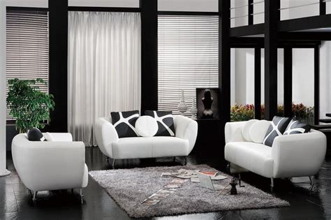 Living Room Pillow Set White Bonded Leather Sofa Set With Accent Pillows