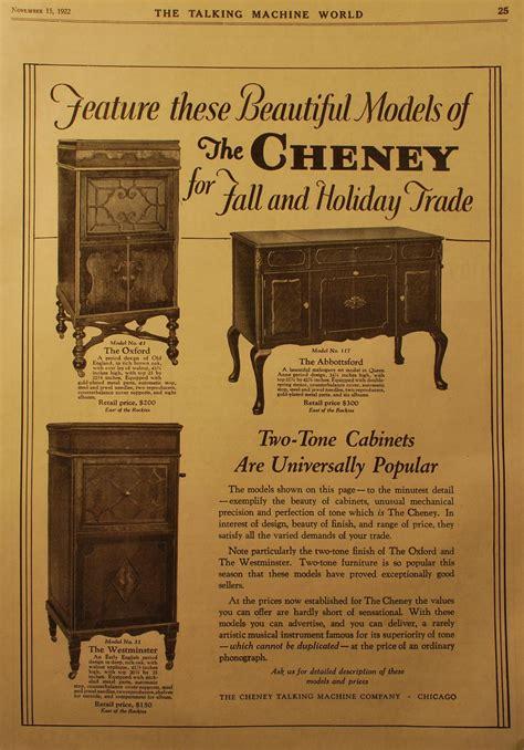 cheney talking machines  rj wakeman  antique
