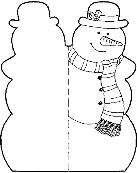 snowman card template december 21st