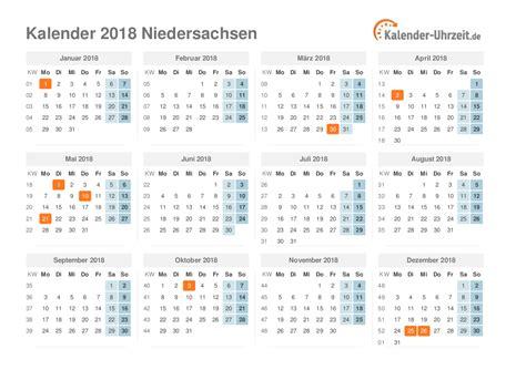 Kalender 2018 Niedersachsen Feiertage Feiertage 2018 Niedersachsen Kalender