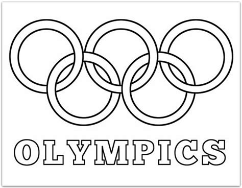 Pin By Emilie Ahern On Family Olympics Pinterest Olympic Rings Coloring Page