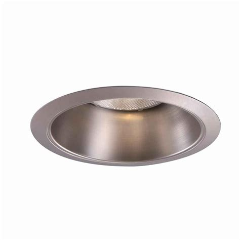 Ceiling Light Reflector Halo 426 Series 6 In Satin Nickel Recessed Ceiling Light Reflector Cone Trim 426sn The Home Depot