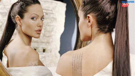 angelina jolie x tattoo angelina jolie tattoos wallpaper 1600 215 900 desktop widescreen