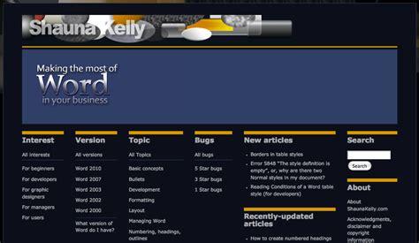 Microsoft Word Web Template Templates Station Microsoft Website Templates