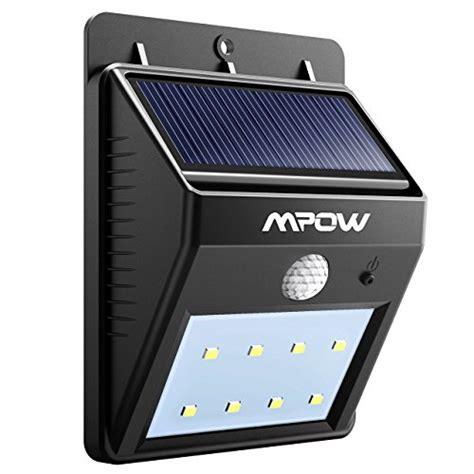 mpow solar light mpow solar lights 1 pack 8 led bright solar powered