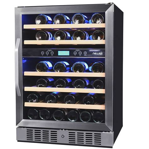 To Market Recap Wine Cooler by Newair Awr 460db Dual Zone 46 Bottle Wine Cooler