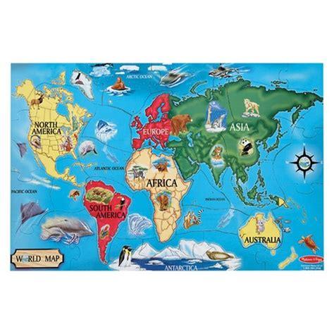 melissa doug world map jumbo jigsaw floor puzzle pc