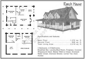 ranch log home floor plans ranch house log homes