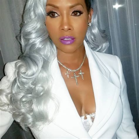 youngest black woman with grey hair pics vivica fox is slaying the silver hair trend black