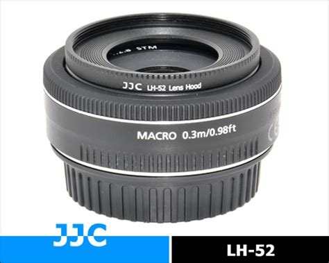 Jjc Lens Metal Replaces Canon Es 52 For Ef M 18 55mm F35 55 jjc lh 52 lens for canon ef 40mm f 2 8 stm lens replace es 52 ebay