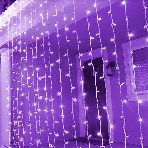 icicle curtain lights 600 led christmas curtain lights display outdoor fairy