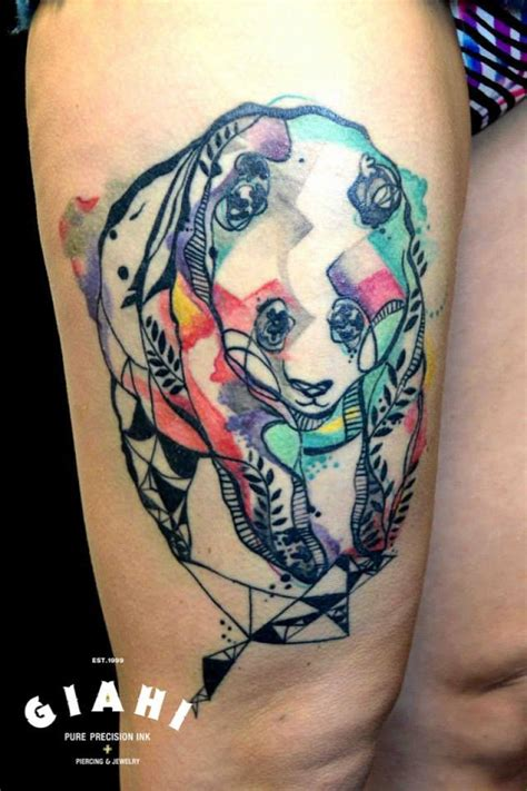panda tattoo on thigh panda tattoo images designs