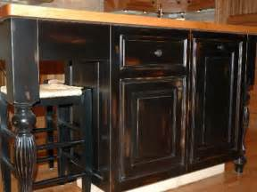 Distressed Black Kitchen Cabinets by Secret To Create Distressed Black Kitchen Cabinets Smart