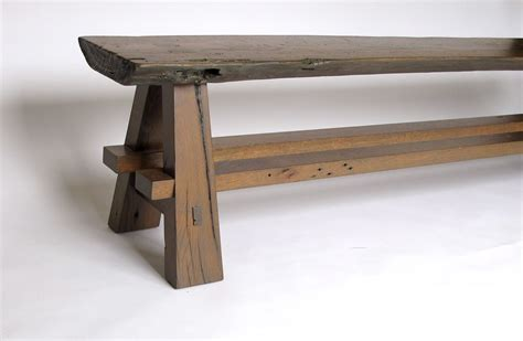 rustic bench custom rustic bench made with reclaimed barnwood and oak slab by intelligent design