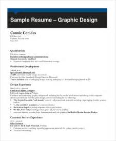Graphic Design Resume Sles Pdf by Sle Graphic Designer Resume 9 Exles In Word Pdf