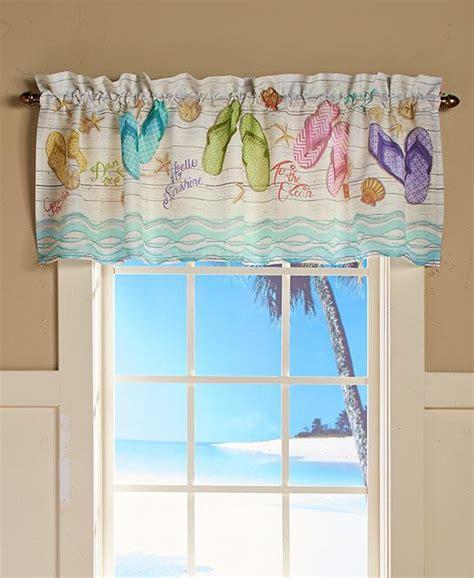 Length Of Window Valance New Flip Flop Beach Sandal Tropical Seaside Bathroom