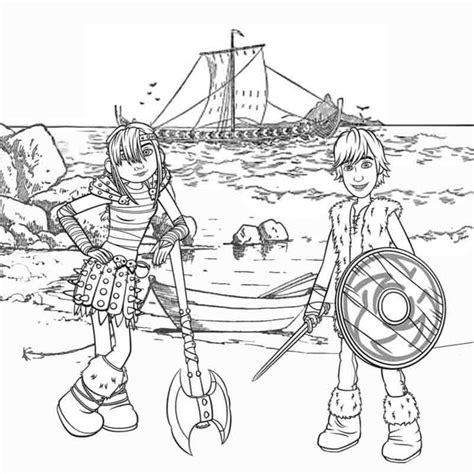 viking cartoon coloring page vikings pinterest the o kids cartoon viking snotlout astrid and hiccup how to