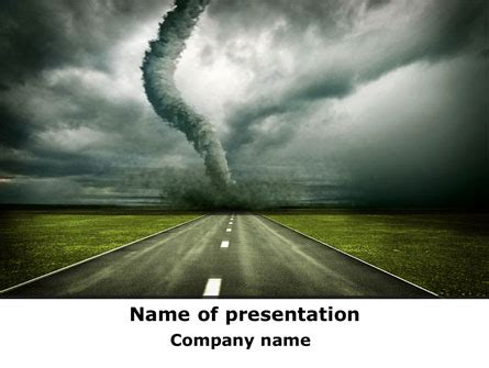 tornado template tornado on the road presentation template for powerpoint