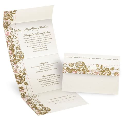 send and seal wedding invitations templates faded floral seal and send invitation invitations by