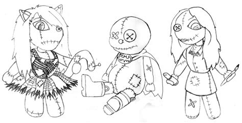 rag doll outline drawings by david at coroflot