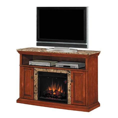 Tv Stands With Electric Fireplace Classic Brighton Tv Stand With 23in Electric Fireplace Inset Honey 23mm1424 W276