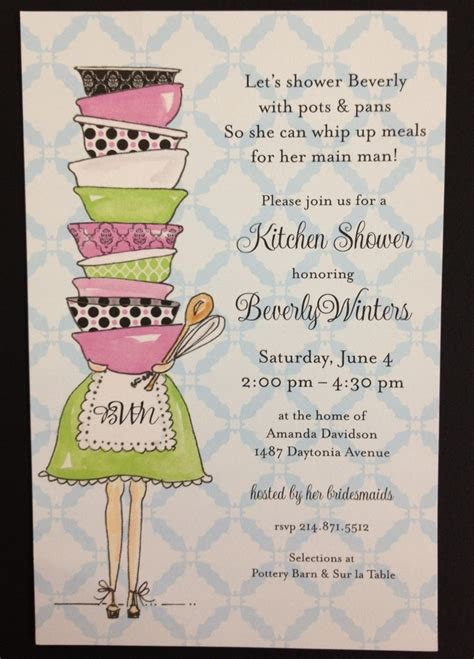 kitchen themed bridal shower quotes 2 kitchen shower invitations stationary more