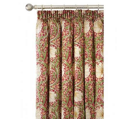 william morris curtains uk william morris pimpernel red lined curtains