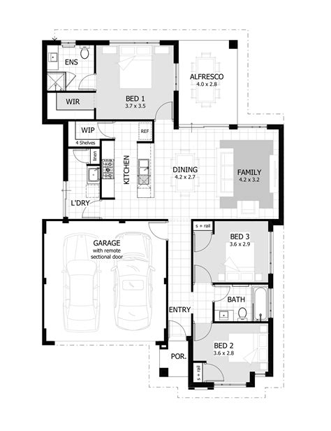 Three Bedroom House Plans Without Garage Best Image Home Floor Plans Without Garage