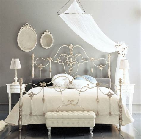 White Iron Beds by Fancy Wrought Rod Iron Beds Curved With Silver Color And