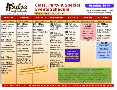 swing 46 schedule group class start dates and schedule