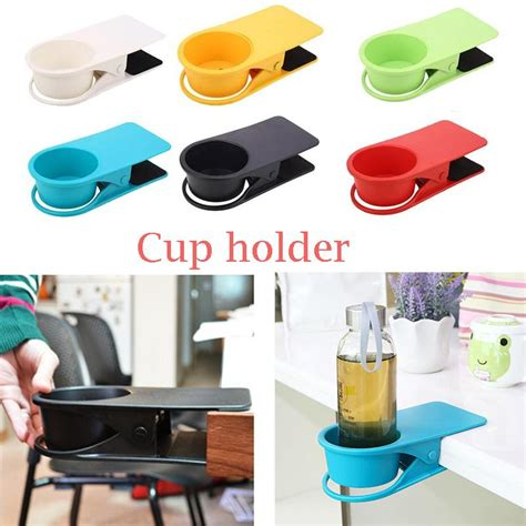clip on cup holder for desk creative desk water drink coffee cup holder clip