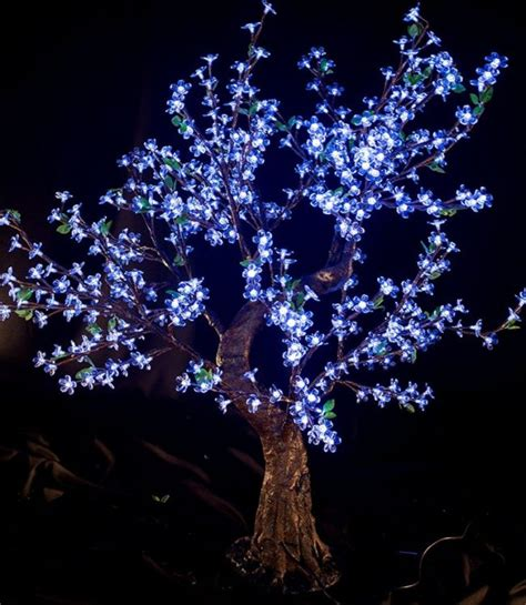 artificial trees led lights led light cherry artificial tree