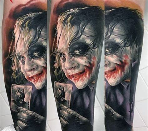 batman tattoo realistic 90 joker tattoos for men iconic villain design ideas