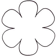 6 petal flower template templates on flower template leaf template